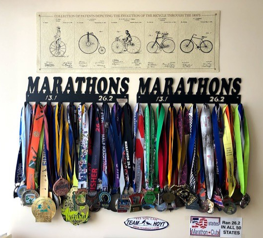 Jeff's Collection of Marathon Medals