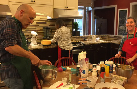 Jeff making treats with Ally for RMHC