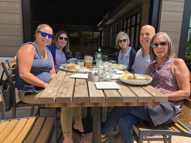 R. Jeffrey's Team out for lunch