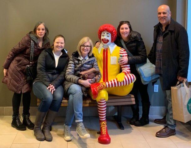 R. Jeffrey & Associates team with Ronald McDonald Statue